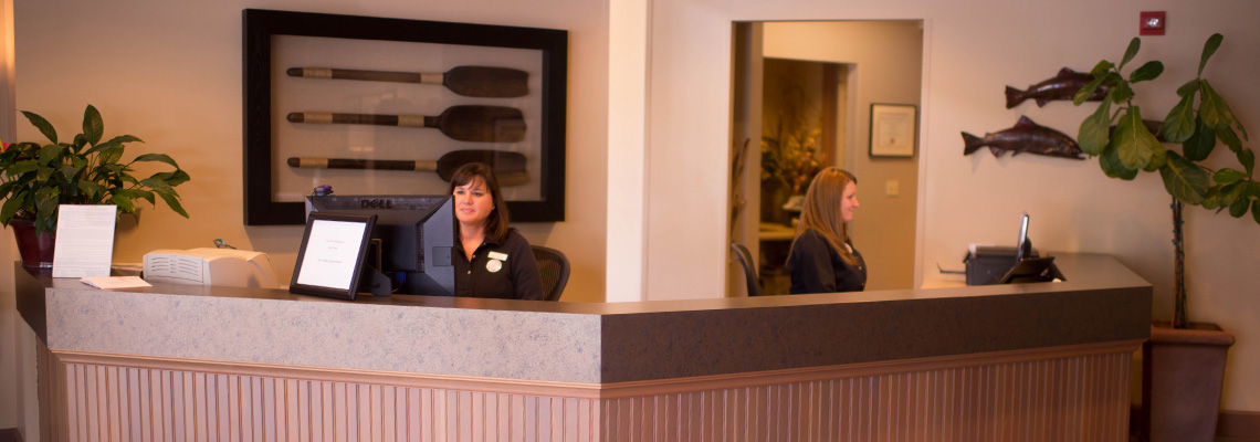 the front desk at the center for endodontics