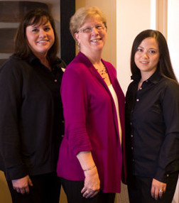 dental front desk and office staff at the center for endodontics